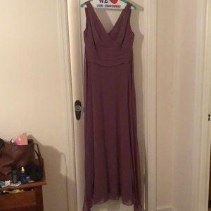 David's Bridal Chianti Chiffon Bridesmaid Dress
